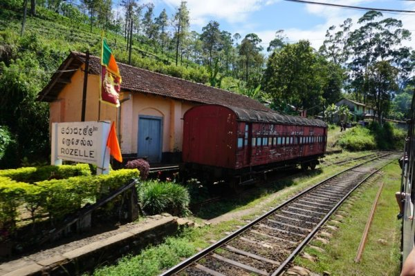 Scenic train ride from Kandy to Ella